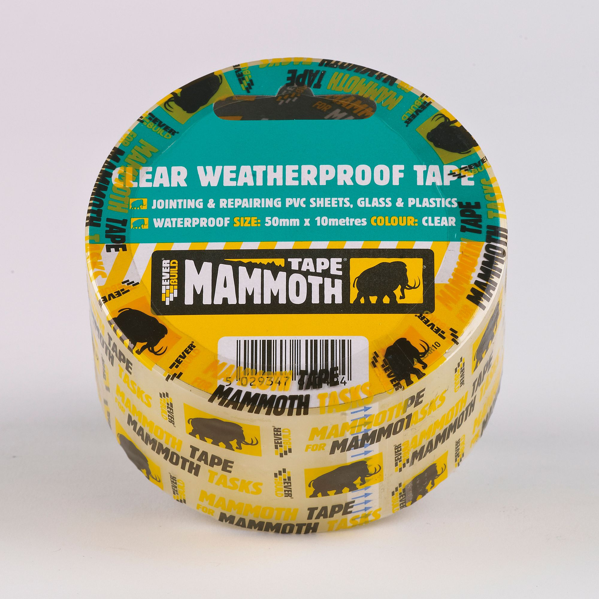 CLEAR WEATHERPROOF TAPE 50MM 33MTR