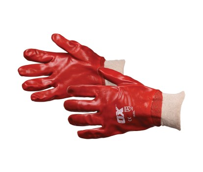 OX PVC KNITWRIST GLOVES SIZE 10(XL)
