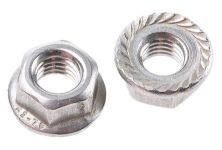 HEX FLANGE NUT - SERRATED M10 A2 STAINLESS STEEL