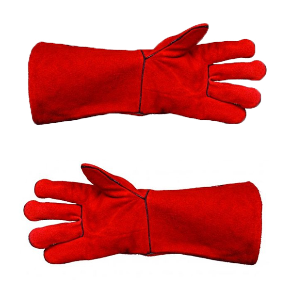 WARRIOR HEAVY DUTY RED WELDERS GAUNTLETS (REINFORCED SEAMS)