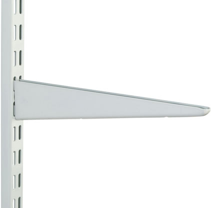 TWIN SLOT BRACKET - HEAVY DUTY WHITE 370MM
