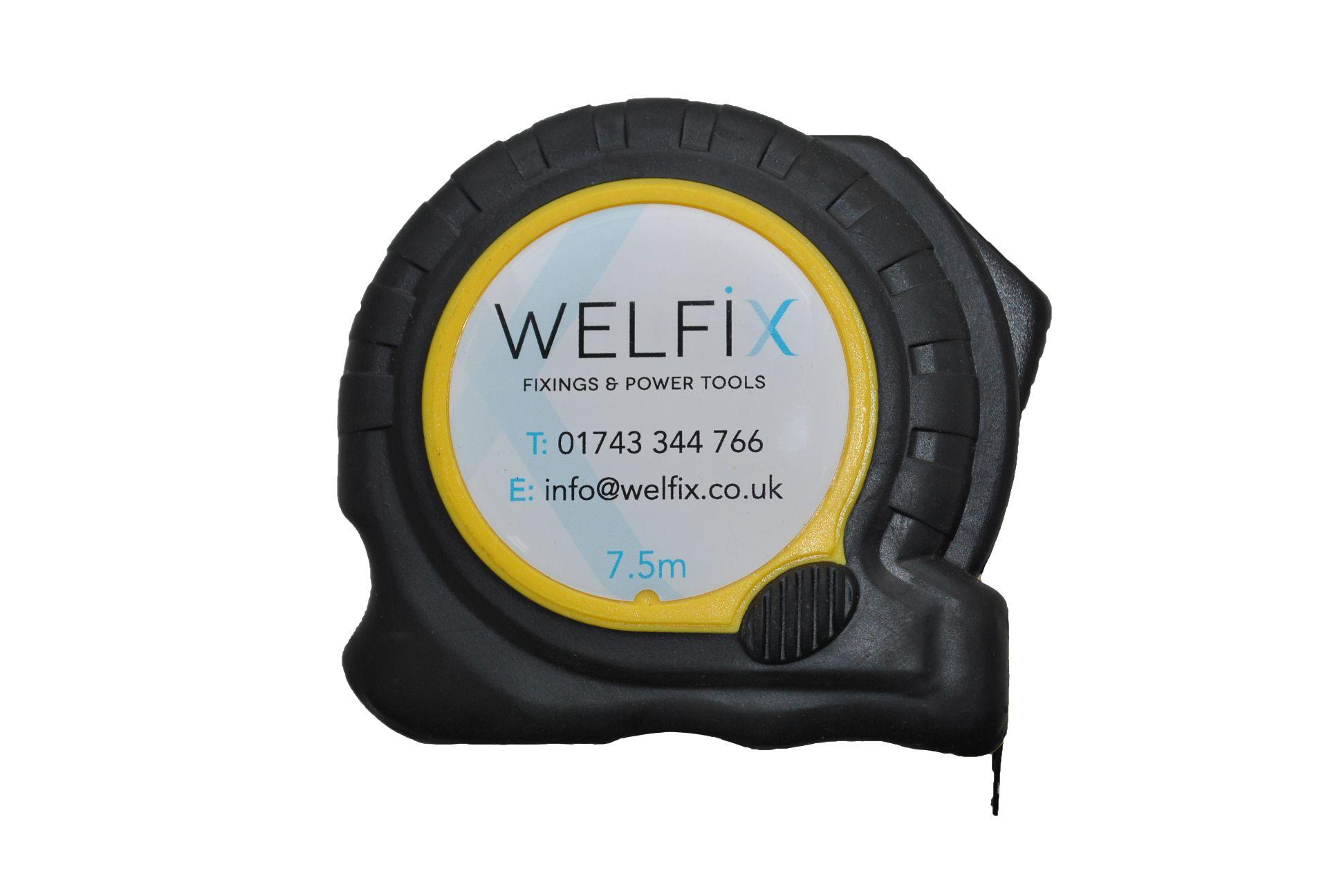 'WELFIX' TAPE MEASURE -  7.5M/25FT