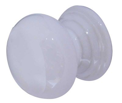 PORCELAIN CUPBOARD KNOB 32MM WHITE
