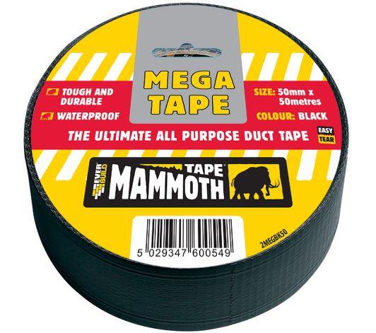 MAMMOTH MEGA DUCT TAPE 50MM X 50MTR BLACK