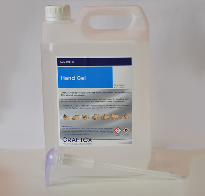 ANTI-BACTERIAL HAND SANITISER GEL 5L WITH HAND PUMP CAP (60% ALCOHOL)