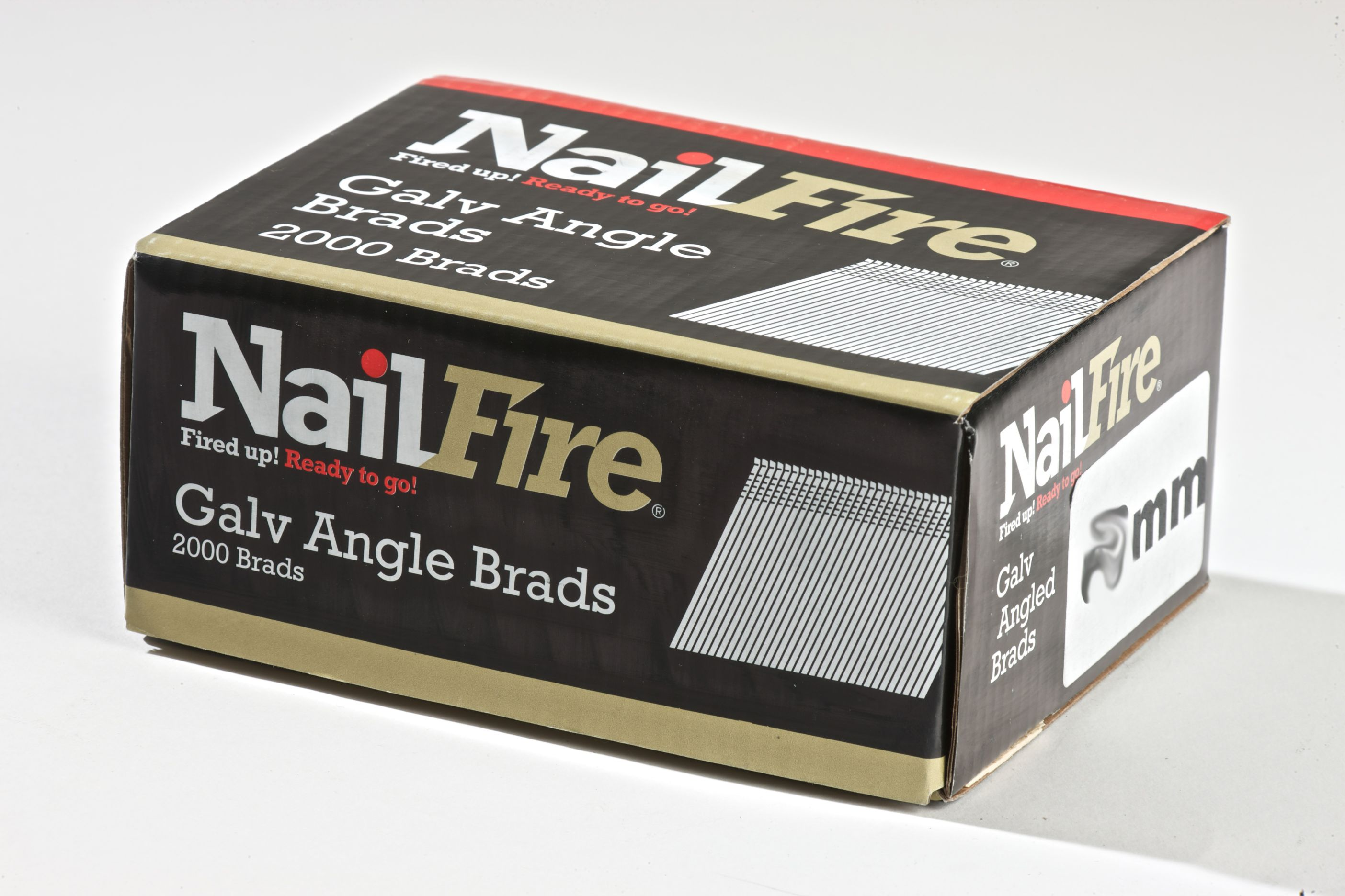 NAILFIRE 2ND FIX ANGLED E-GALV BRAD & FUEL PACK 50MM (TUB OF 2000)
