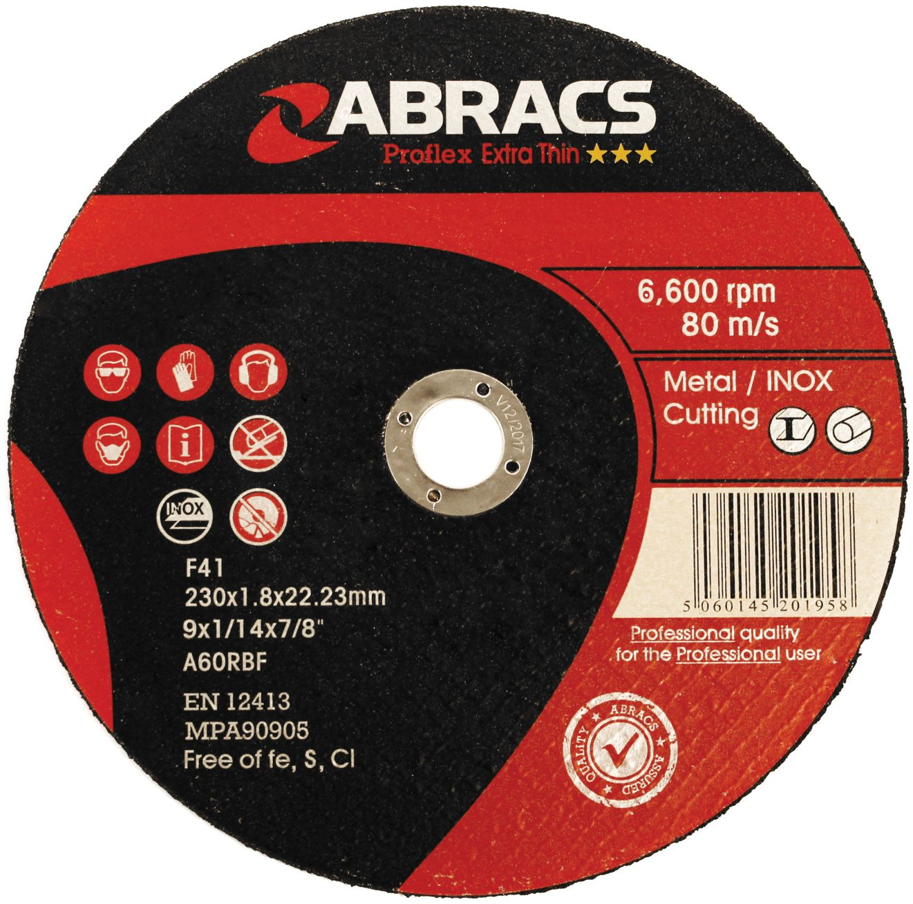 THIN METAL CUTTING DISC 230 X 1.8MM
