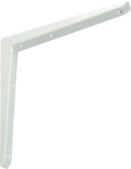 "MITRED SHELF BRACKET  8"" X  8"" WHITE"