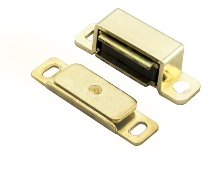 MAGNETIC CATCH 46 X 15 X 14MM ELECTRO BRASSED
