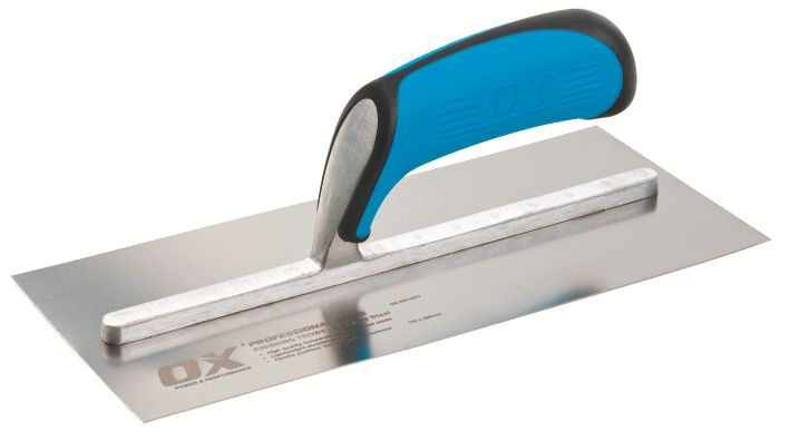 "OX PRO STAINLESS STEEL PLASTER'S SMALL TROWEL  75 X 200MM (8"")"