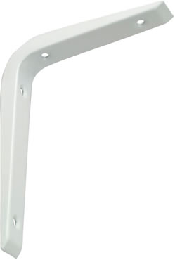REINFORCED SHELF BRACKET 250 X 200MM WHITE