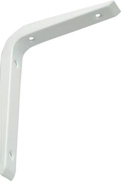 REINFORCED SHELF BRACKET - WHITE 250 X 200MM