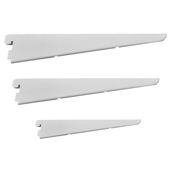 TWIN SLOT BRACKET - WHITE 370MM