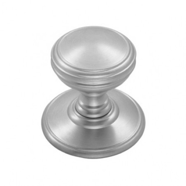DELAMAIN CUPBOARD KNOB (ONE PIECE WITH FIXED ROSE) 38MM DIA SATIN CHROME