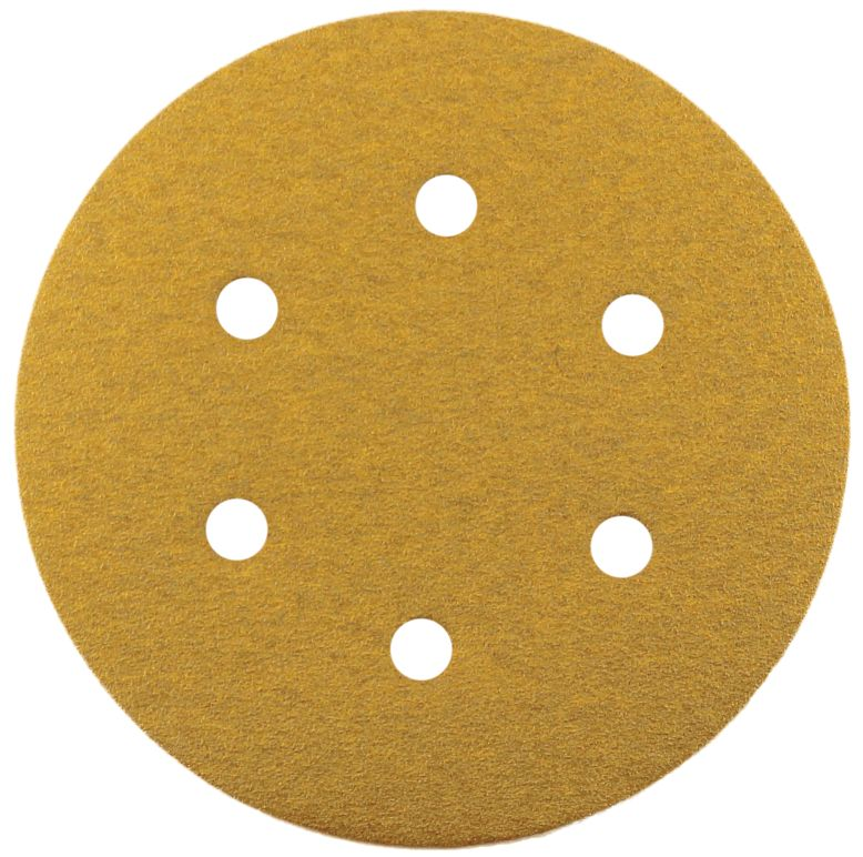 SANDING DISC VELCRO BACKED 6-HOLE 150MM X 220G