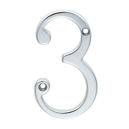 NUMERAL FACE FIX (NO.3) 76MM SATIN CHROME