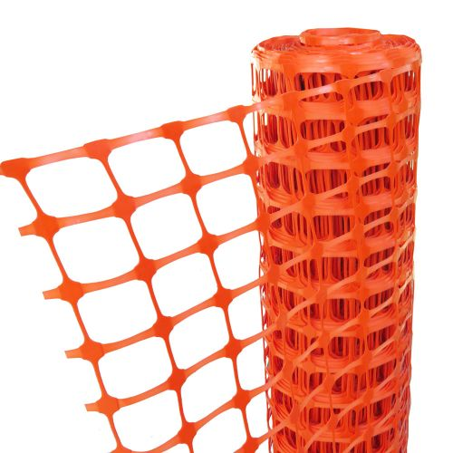 ORANGE BARRIER FENCE 1M X 50M