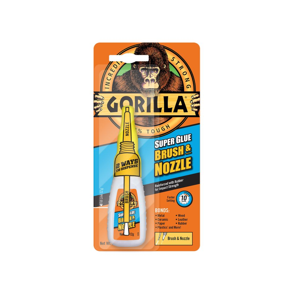 GORILLA SUPER GLUE (WITH BRUSH & NOZZLE) 15G