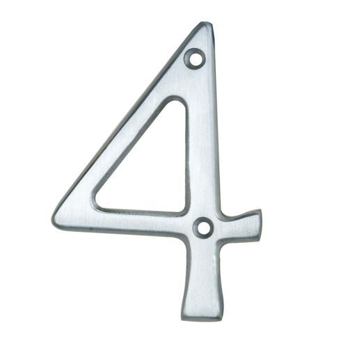 NUMERAL FACE FIX (NO.4) 76MM SATIN CHROME