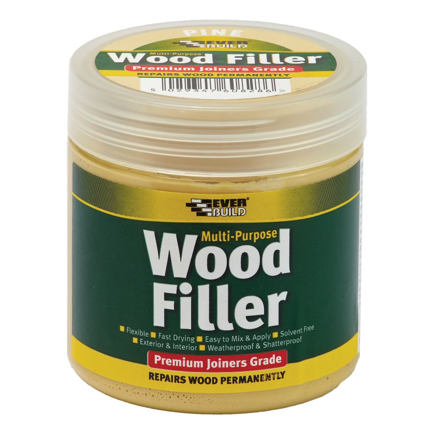 WOOD FILLER - PREMIUM READY MIXED - EXTERIOR 250ML DARK OAK