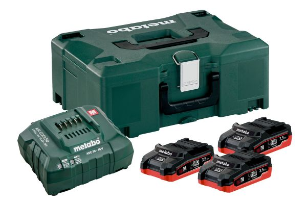 METABO BATTERY KIT BASIC SET 3 X LiHD 3,5Ah + METALOC